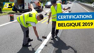 Certifications en marquage routier belgique 2019
