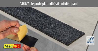 Stony : le profil plat adhésif antidérapant