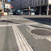 Bandes de guidage tactile au sol MILAN MTA et bandes podotactiles LABRADOR MTA à Strasbourg (67)