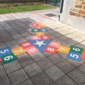 Marelle triple T LUDO - Ecole à Transinne (BE)